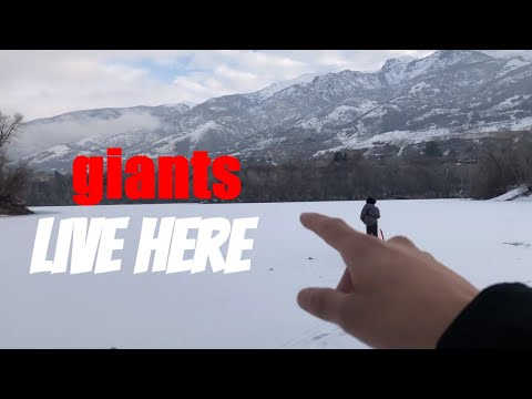 Huge Bass Through The Ice! Utah Ice Fishing #ice Fishing #fish #bass