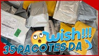 #UnboxingWish Unboxing 35 Pacotes do WISH :Lace, Maiô, Maquiagens