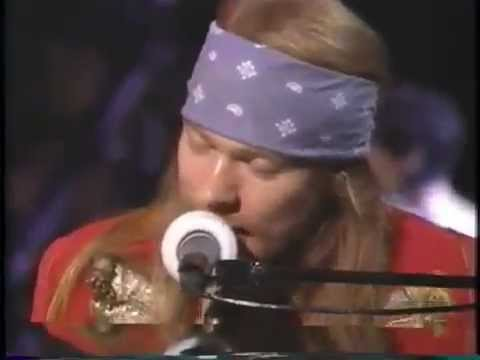 Guns N Roses ft. Sir Elton John – November Rain – VMA 1992
