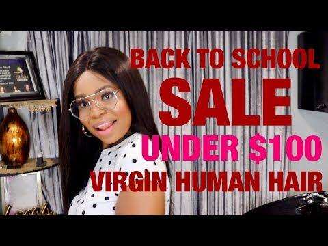 Back to School Sale UNDER $100 VIRGIN HUMAN HAIR |ft NaBeautyHair