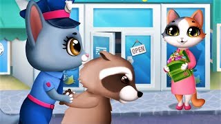 Kitty Superhero Team - Help Cat Police Firefighter To Rescue The Pet City - Kids Gameplay Video