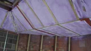 Warwickshire Lantern Roof Insulation    Basf Spray Foam Insulation   Part 3