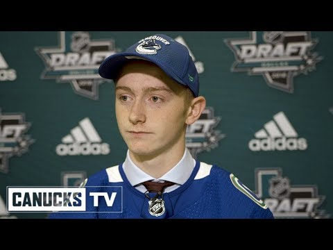 Tyler Madden Meets the Media After Being Drafted by the Vancouver Canucks (June 23, 2018)
