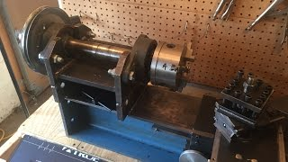 home made lathe part 9 new headstock