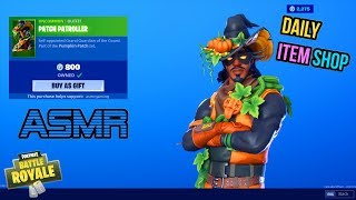 ASMR | Fortnite RARE Patch Patroller Skin Is Back! Daily Item Shop Update 🎮🎧Relaxing Whispering😴💤