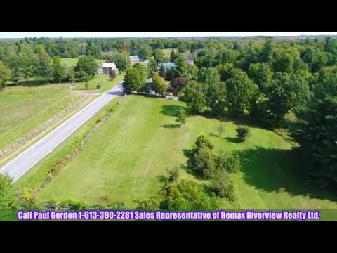 DRONE VIDEO of 5 ACRES! (302 ft frontage) Building Lot $74,900 - 0 Bennett Lake Road, Perth, ON