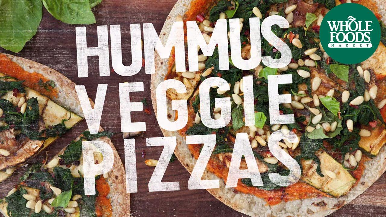 Hummus veggie pizza recipes whole food markets youtube forumfinder Images