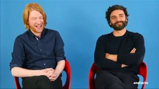 Domhnall Gleeson and Oscar Isaac Funny Moments