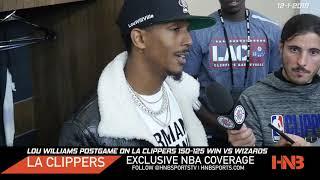 Lou Williams Postgame on Kawhi Leonard & LA Clippers win vs Wizards 12-1-2019