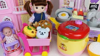 Gambar cover Baby doll cooker and kitchen cooking food toys play - ToyMong TV 토이몽