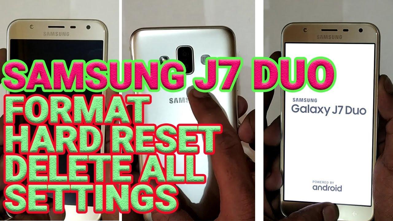 Mobile Info: Samsung Galaxy j7 Reset