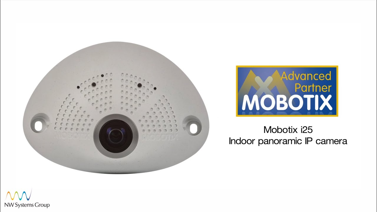 Mobotix i25 180° hemispheric IP camera with 6MP resolution