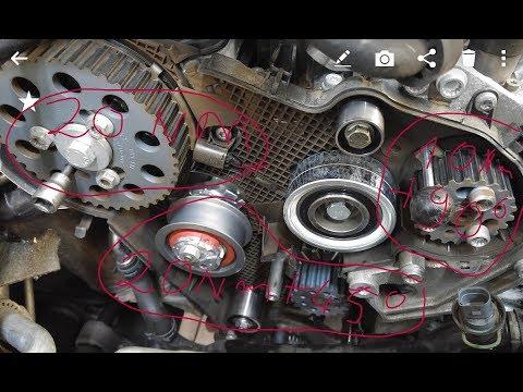TIMING BELT REPLACEMENT VW 2.0 Tdi Golf EOS SHARAN TIGUAN . English SUBTITLES