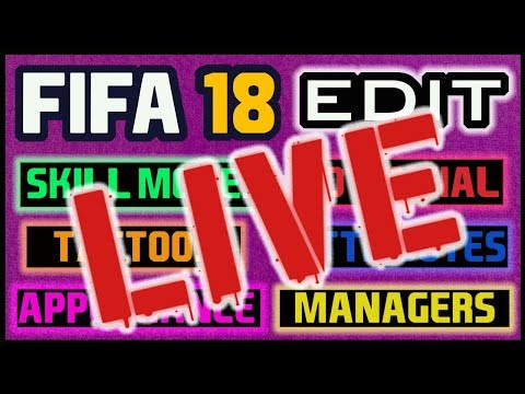 How To Edit FIFA 18 Career Mode LIVE Q&A
