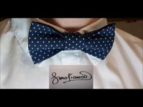 Пошив галстука бабочка. Полный мастер-класс от Геннадия Смольянова.