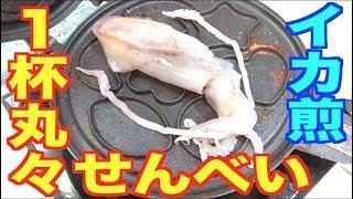 イカを丸々せんべいに!家庭で簡単せんべい作り!