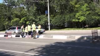 видео Покраска дорожных бордюров