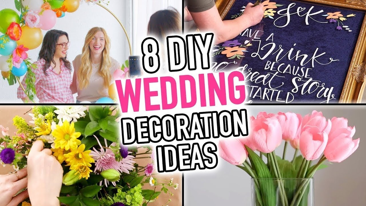 8 Diy Wedding Decoration Ideas Hgtv Handmade Youtube