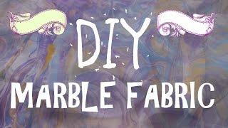 Diy Marble fabric | Marbling