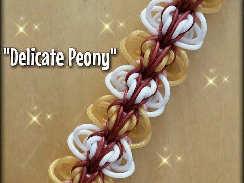 """""""Delicate Peony"""" Rainbow Loom Bracelet/How to Tutorial"""