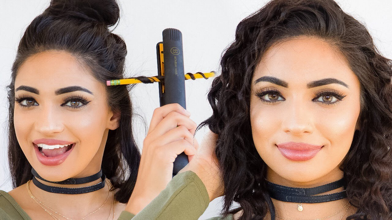 diy curling my hair with a pencil youtube