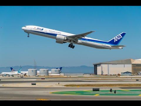 20160528 ANA All Nippon Airways Boeing 777-300ER JA779A NH8 NRT-SFO Takeoff