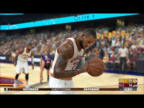 NBA 2K17 - Los Angeles Lakers vs Cleveland Cavaliers | Gameplay (PC HD) [1080p60FPS]