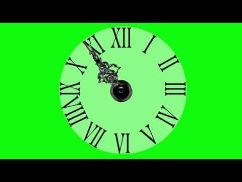 Футажи  Новый Год Часы Хромакей