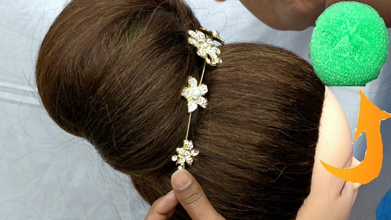 Hairstyles Juda: DIY - Beautiful Bun With Help Of Scrubber