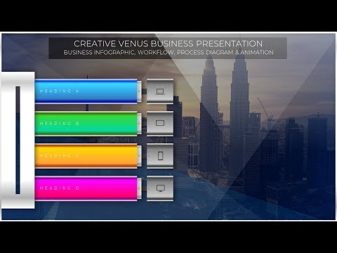 Beautiful Infographic Animation Effect in Microsoft Office 365 PowerPoint PPT