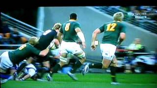 referee crash with rugby players tri nation 2010 all blacks south africa