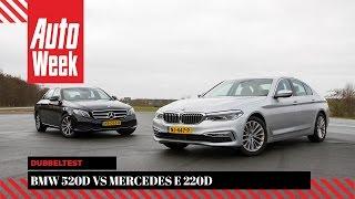 BMW 520d vs. Mercedes E 220d - Dubbeltest - English subtitles