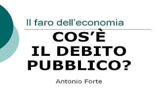 Lezione: Cos'è il debito pubblico?