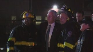 Raw: Pence's Plane Slides Off NYC Airport Runway