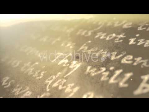 Religious Text Background - Stock Motion Graphics Footage