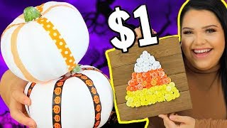 $1 Halloween Challenge! spooky szn on a budget