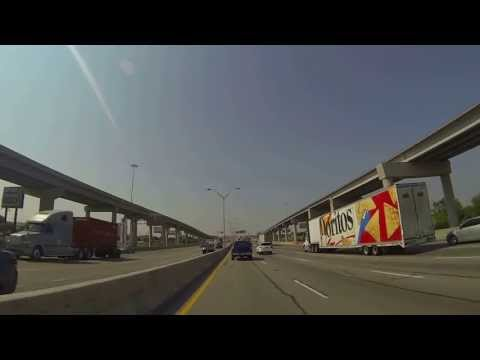 Southbound on I-35E from Hwy 121 to Commerce St in Dallas, Texas (06-28-13)