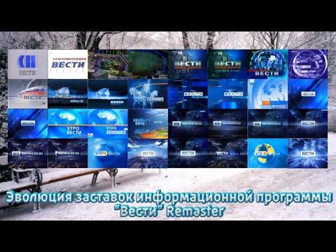 """Эволюция заставок информационной программы """"Вести"""" Remaster"""