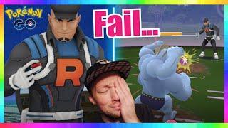 WORST EVER ROCKET LEADER CLIFF BATTLE in Pokemon Go! ( I SUCK LOL.. )