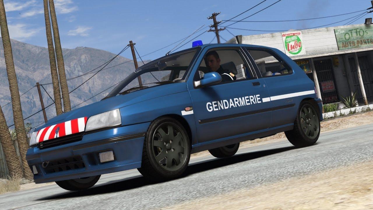 gta 5 - clio 1 williams retextur u00e9e gendarmerie nationale