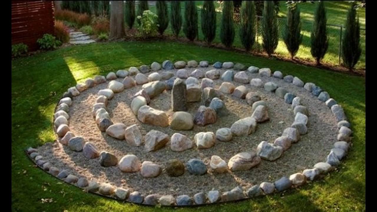 Ideas de jard n de piedra youtube for Decoracion de piedras para jardin