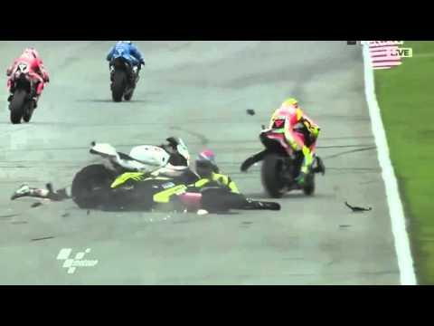 Marco Simoncelli-Colin Edwards-Crash in Sepang-Malaysia 2011-RIP Marco!
