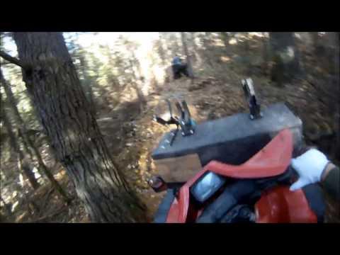 Deep woods ride on 1997 Honda Foreman 400