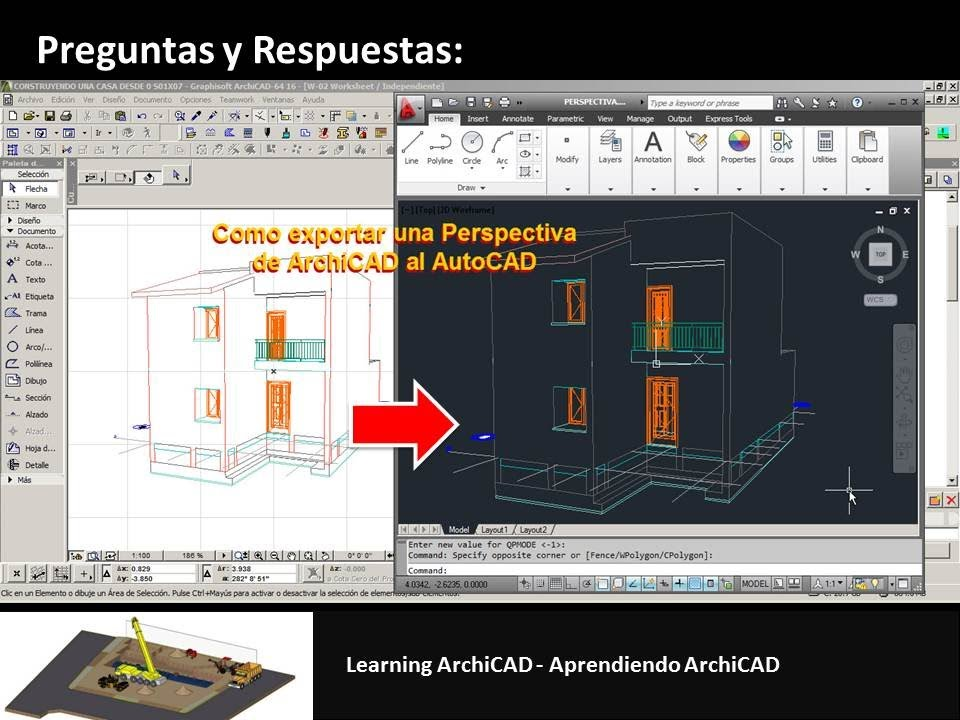archicad tutorial como exportar una perspectiva de archicad al autocad youtube. Black Bedroom Furniture Sets. Home Design Ideas