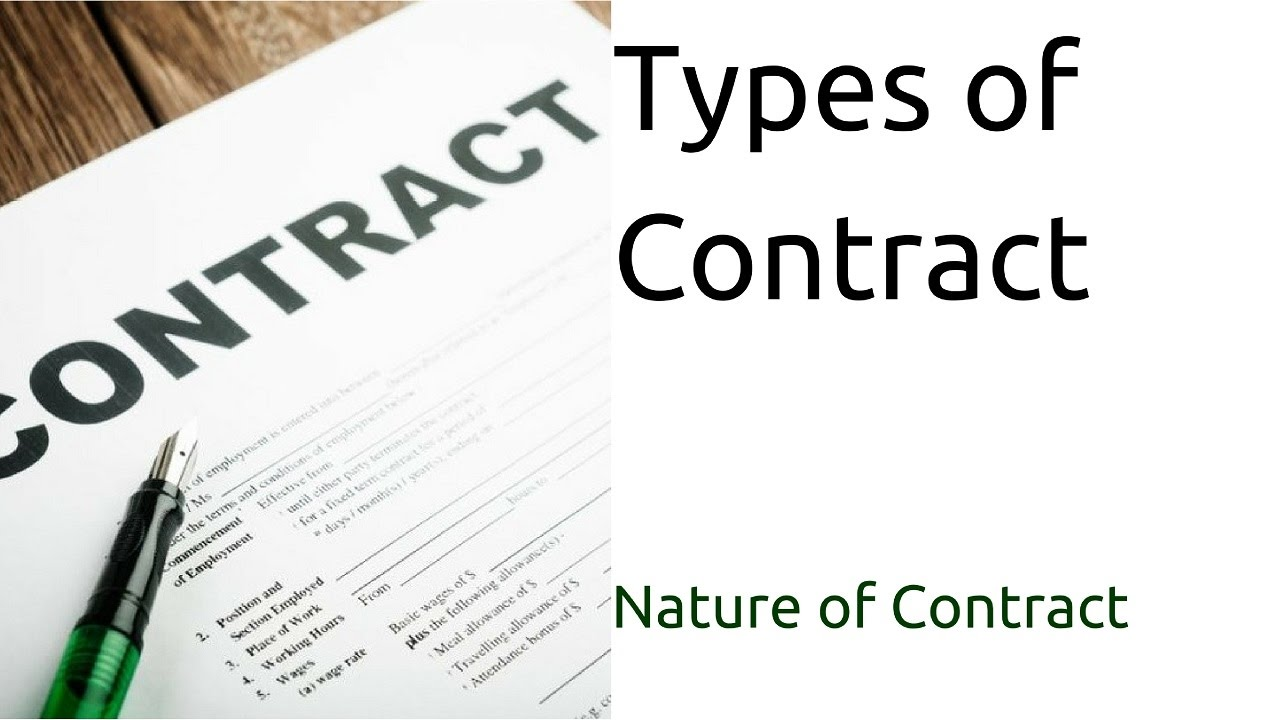 Types of contract nature of contract types of contract ca types of contract nature of contract types of contract ca cpt cs cma foundation platinumwayz