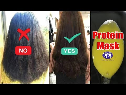 Protein hair mask just 10 MINUTES Get Shiny Hair | 98% People Dont know This remedy for Rough hair
