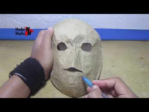 Topeng Kertas Tengkorak | Cara Mudah Membuat Topeng Dari Kertas