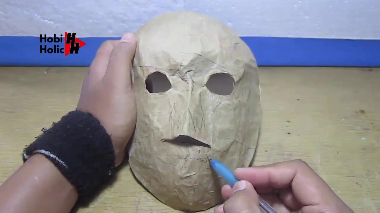 Topeng Kertas Tengkorak Cara Mudah Membuat Topeng Dari Kertas