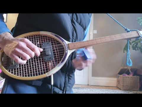Trippy tennis racquet guitar solo.