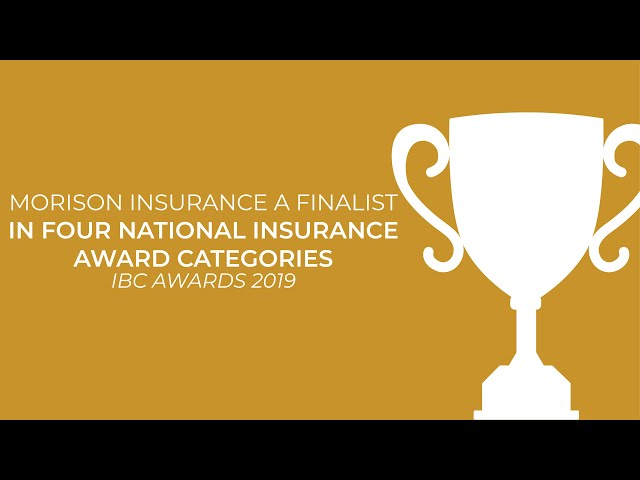 Morison Insurance:  Finalists In Four National Insurance Award Categories